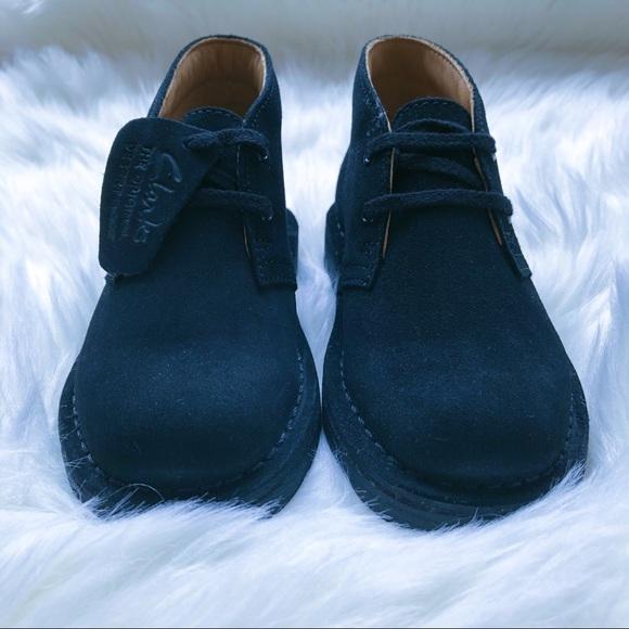 b54ffe95bc4 ***New*** Clarks Desert Boot (Black Suede) NWT